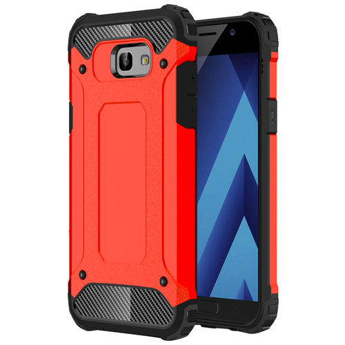 Military Defender Tough Shockproof Case for Samsung Galaxy A5 (2017) - Red